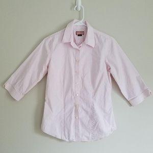 Thomas Pink Classic Pink & White Striped Shirt